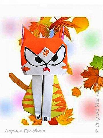 Очень позитивных кошек увидела здесь: https://www.youtube.com/watch?v=15dq_hLPw7k Видеоинструкция подробная.  Складывали четвероклассники на внеурочке. От этих котят пришли в восторг. Все кошачьи со своим характером фото 2