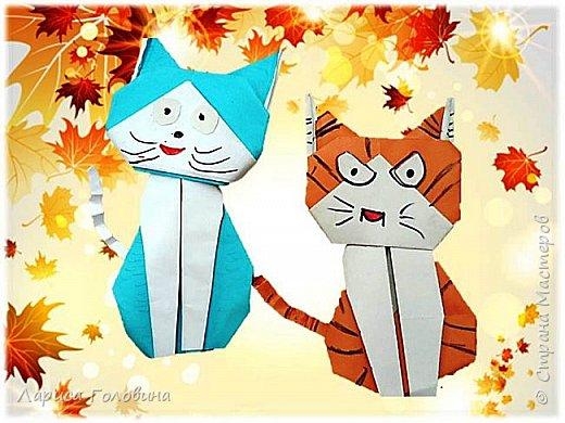 Очень позитивных кошек увидела здесь: https://www.youtube.com/watch?v=15dq_hLPw7k Видеоинструкция подробная.  Складывали четвероклассники на внеурочке. От этих котят пришли в восторг. Все кошачьи со своим характером фото 5