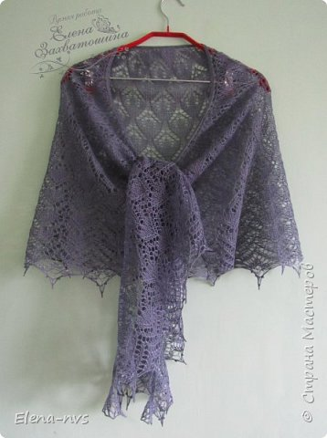 "Шаль ""Ожерелье"" или Beaded Shawl из Vogue Knitting Holiday 2015  фото 4"