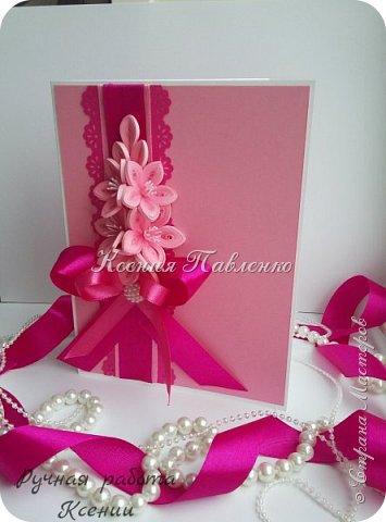 Открытка в нежно розовом цвете на День Рождения! фото 1