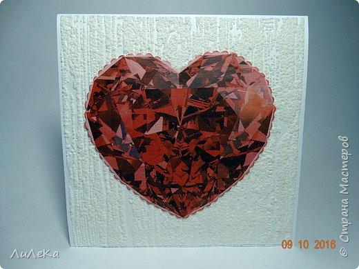 Несколько свадебных открыток, сделанных с применением бросового материала.  фото 17