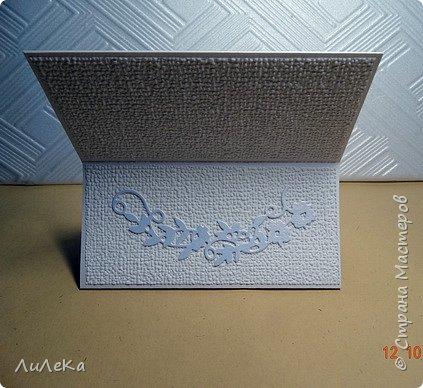 Несколько свадебных открыток, сделанных с применением бросового материала.  фото 7