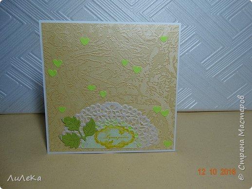 Несколько свадебных открыток, сделанных с применением бросового материала.  фото 9