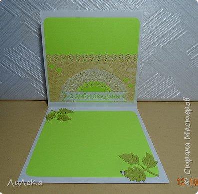 Несколько свадебных открыток, сделанных с применением бросового материала.  фото 10