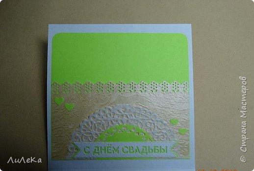 Несколько свадебных открыток, сделанных с применением бросового материала.  фото 11
