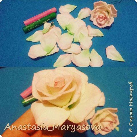 Цветы из фоамирана.  фото 2