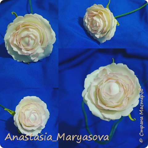 Цветы из фоамирана.  фото 6