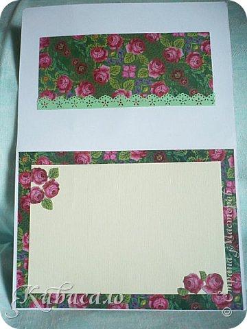 Ну, оочень мне понравилась эта коллекция бумаги! И открытки посыпались, как из рога изобилия))))))) Размер этих открыток 20,5х14,5. Первая. фото 12