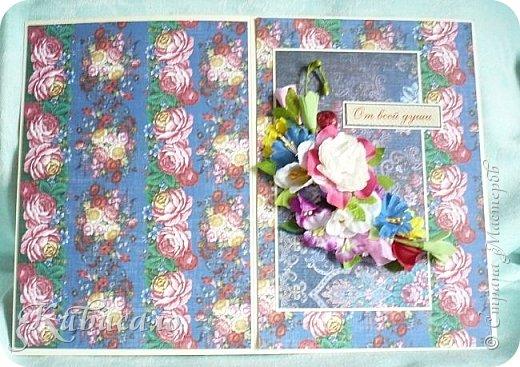 Ну, оочень мне понравилась эта коллекция бумаги! И открытки посыпались, как из рога изобилия))))))) Размер этих открыток 20,5х14,5. Первая. фото 4