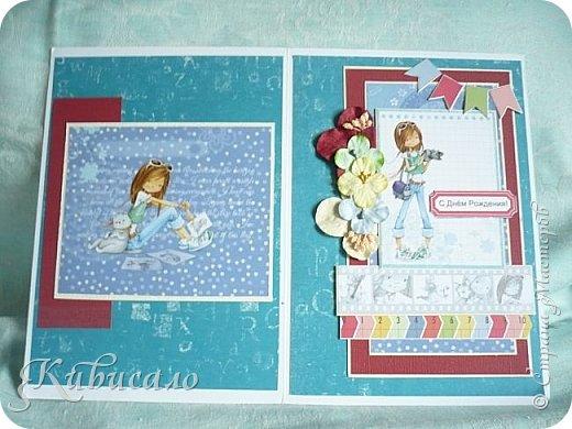 Открытка для девочки на 10 лет. У меня их три, на выбор.))) фото 12