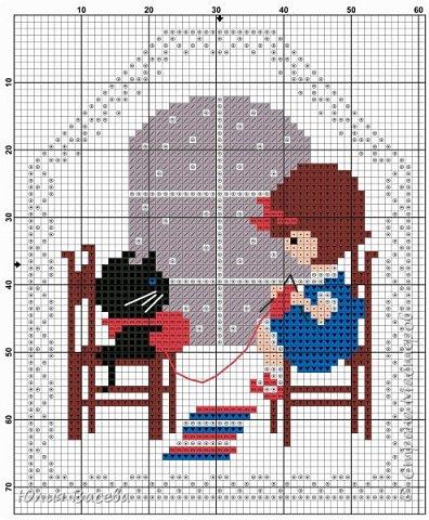"""""""Однажды вечером"""" - 2 отдельных новогодних пинкипа или две стороны одной игрушки. Размер каждой вышивки 57 х 70  крестиков, 7 основных цветов (палитра ДМС), крест, бекстич, канва Aida 14 лен, примерный размер 9 х 11 см. Кому понравится, схему можно взять у меня в альбоме https://fotki.yandex.ru/users/julia-vaseva/album/516364/  фото 2"""