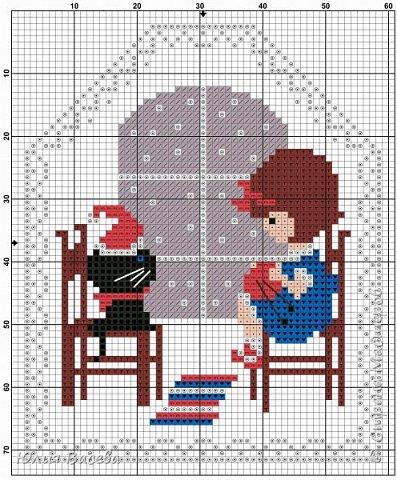 """""""Однажды вечером"""" - 2 отдельных новогодних пинкипа или две стороны одной игрушки. Размер каждой вышивки 57 х 70  крестиков, 7 основных цветов (палитра ДМС), крест, бекстич, канва Aida 14 лен, примерный размер 9 х 11 см. Кому понравится, схему можно взять у меня в альбоме https://fotki.yandex.ru/users/julia-vaseva/album/516364/  фото 4"""
