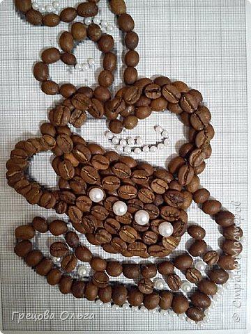 Чашка кофе с ароматом из зерен фото 3