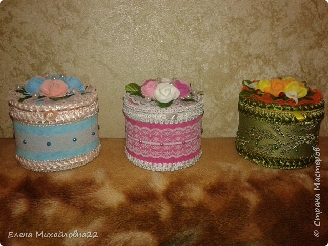 Шкатулочки разноцветные фото 1