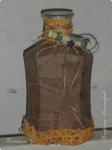 Декор бутылок (разные)-5 (декупаж +) фото 3