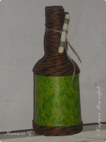 Декор бутылок (разные)-5 (декупаж +) фото 6