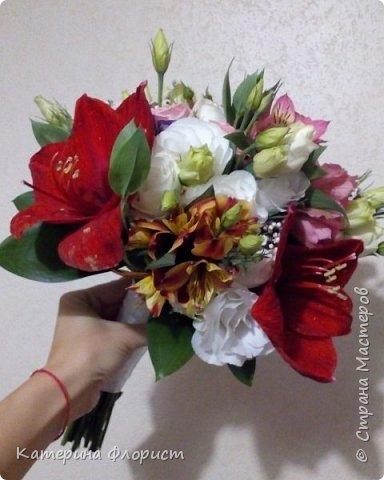 Эустомы и розы фото 5