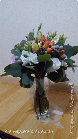 Эустомы и розы фото 6