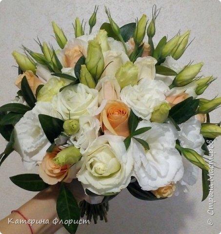Эустомы и розы фото 2
