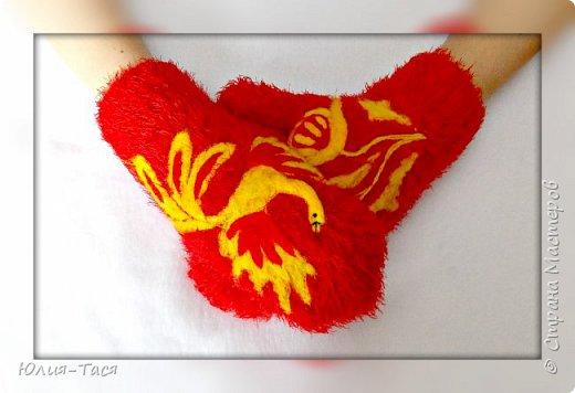 Махнет жар-птица золотым крылом... варежки. фото 2