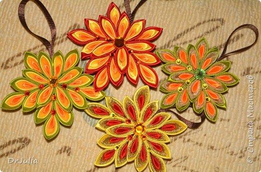 В этом году на День учителя делала вот такие кленовые листья.  фото 2