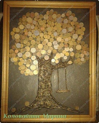 Мое второе денежное дерево. На этот раз, я его сделала для себя! фото 2