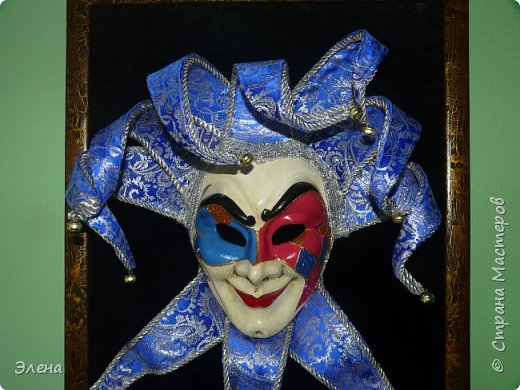 Вот такая маска родилась у нас с мужем после нескольких недель работы.Маску готовили на подарок друзьям. фото 2