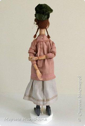 'Девушка в берете' сшита по мотивам двух картин Модильяни: 'Молодая женщина в берете' и 'Девочка с косичками'. Натурщица, судя по всему, была одна и таже. Поэтому взяла промежуточное определение - девушка))) фото 7