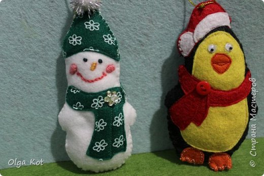 Снеговичок и пингвиненок на елку фото 1