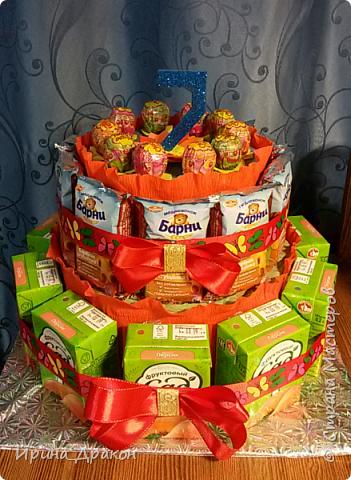 Торт на день рождение.