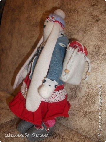 И вот наша Кроша прибарахлилась рюкзачком.   фото 4