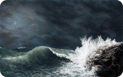 """Ремейк произведения А.С.Пушкина """"Сказка о рыбаке и рыбке"""".  Жил старик у самого синего моря.Ловил он неводом рыбу, тем и жил. Раз закинул он невод в воду - пришел невод с одной тиной. Он в другой раз закинул невод. Как вдруг... фото 2"""