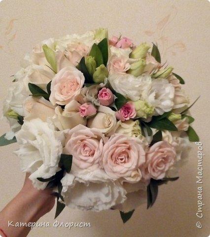 Эустомы и розы фото 12