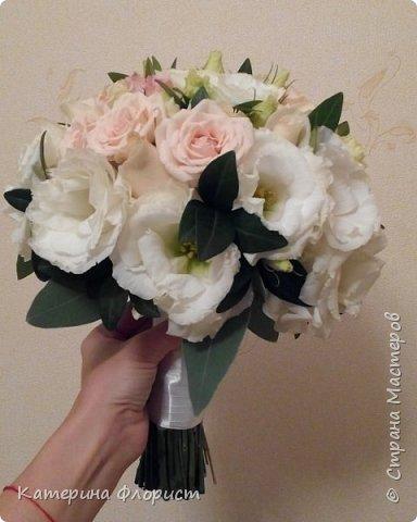 Эустомы и розы фото 13