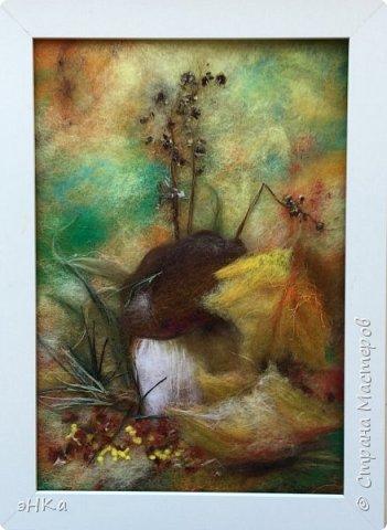 """Осенняя радость.  Делала работу долго с перерывами,  но результатом довольна. Этот сюжет как говорит знакомый """" из головы"""" фото 1"""
