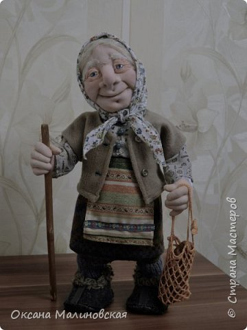 Здравствуйте, жители Страны мастеров. Родилась у меня новая кукла. Назвала её баба Нюра. фото 2