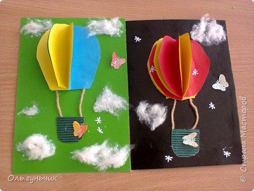 Продолжаю показывать работы учеников, теперь из бумаги. Вот такие воздушные шарики мы наделали с первоклассниками. Идею увидела у Маргариты: https://stranamasterov.ru/node/145284 На зеленом фоне моего сына Вити))) фото 1