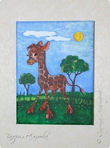 Доброго времени суток!  Настало время украшать стены детской. Хотелось чтобы это было сделанное своими руками и в то же время доброе.  Решила нарисовать персонажей. Кого рисовать выбирал сын, я только исполняла. Рисунки на холсте. Я далеко не художник. Прошу строго не оценивать. Динозаврик (очень любим сейчас эту тематику) фото 3
