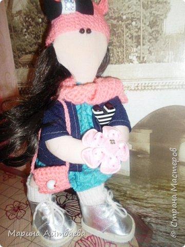 моя первая текстильная кукла! Доча назвала ее Дашей)) Теперь она наша любимая игрушка))) фото 1