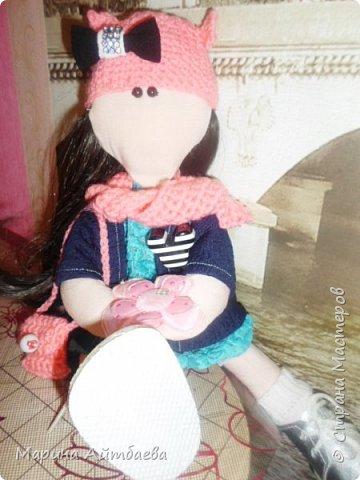моя первая текстильная кукла! Доча назвала ее Дашей)) Теперь она наша любимая игрушка))) фото 2