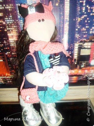 моя первая текстильная кукла! Доча назвала ее Дашей)) Теперь она наша любимая игрушка))) фото 3