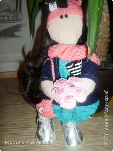 моя первая текстильная кукла! Доча назвала ее Дашей)) Теперь она наша любимая игрушка))) фото 4