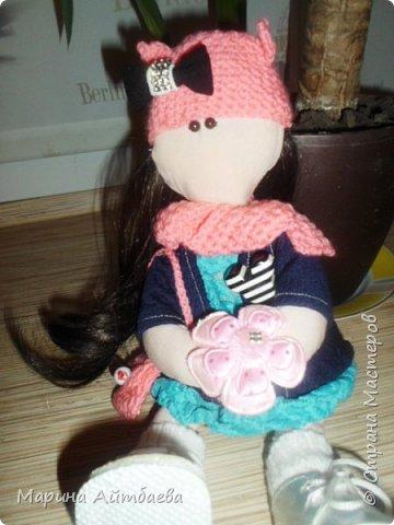 моя первая текстильная кукла! Доча назвала ее Дашей)) Теперь она наша любимая игрушка))) фото 5