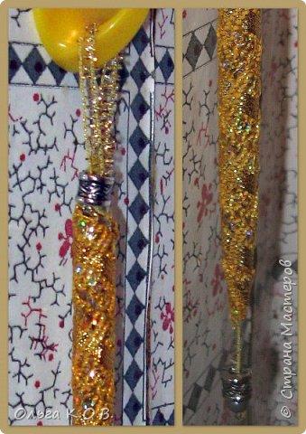 В основе : бывшая шариковая ручка без стержня. Обмотана в данном случае сначала шпагатом , потом тесьма и бусинки фото 10