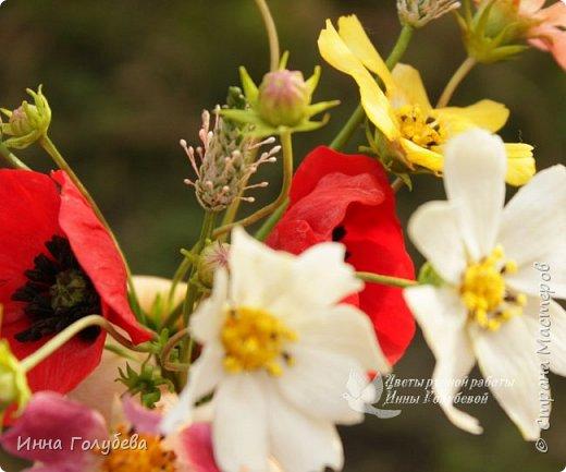 Вот такие букетики слепились на заказ) А впереди еще маргаритки и два букета роз. А потом очень хочу вплотную заняться орхидеями) фото 7