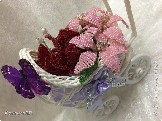 Цветочная колясочка фото 2