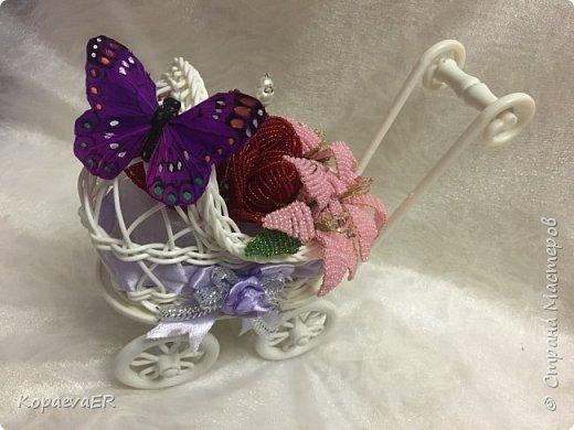 Цветочная колясочка фото 3