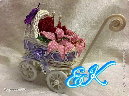 Цветочная колясочка фото 1