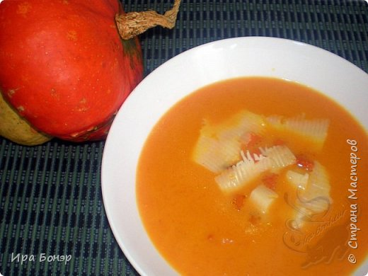 Супер-вкусный и супер-быстрый суп-пюре из тыквы