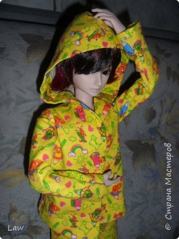 пижамка для моего парнишки Широ. Остались довольны я и он! Ему очень идет)) фото 1